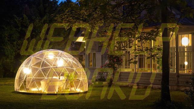 el iglú de jardín es una cúpula geodésica para su jardín 001