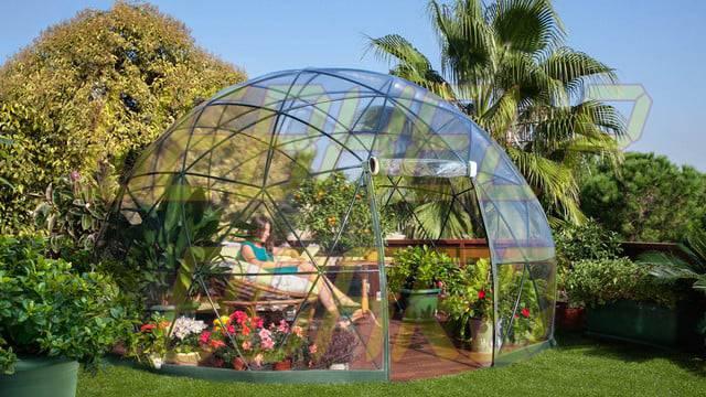 el iglú del jardín es una cúpula geodésica para su césped 0011