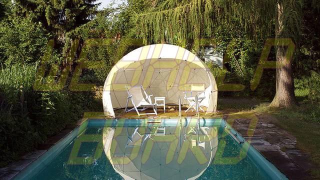 el iglú del jardín es una cúpula geodésica para su césped 0012