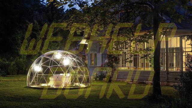 el iglú del jardín es una cúpula geodésica para su césped 0013