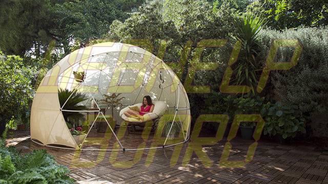 el iglú del jardín es una cúpula geodésica para su césped 002