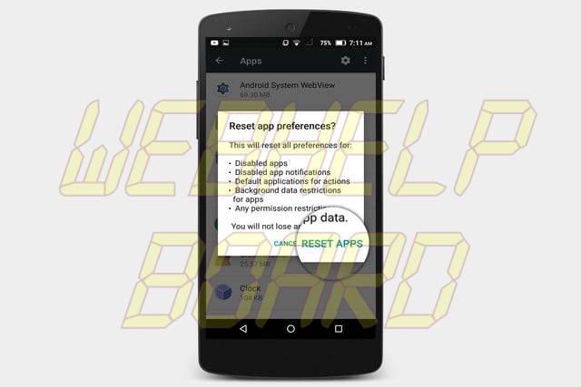 cómo restablecer las aplicaciones predeterminadas en las configuraciones de android, todas ellas reseteadas3