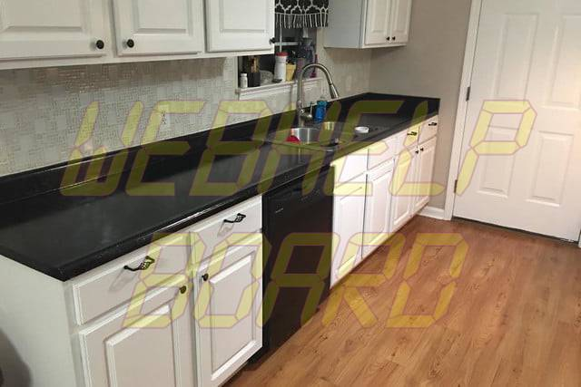 faux granite countertops after pic counters