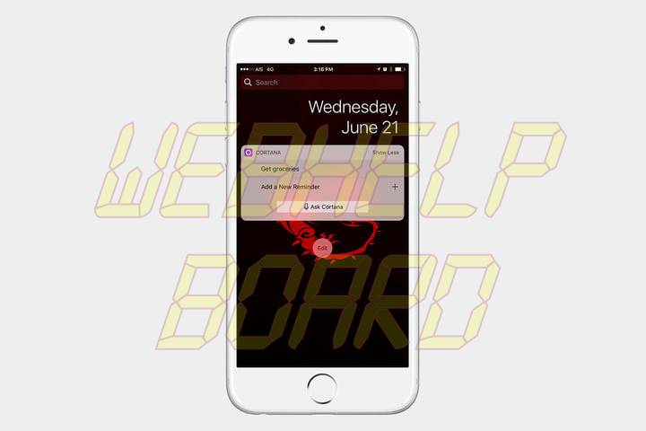best ios 10 widgets cortana