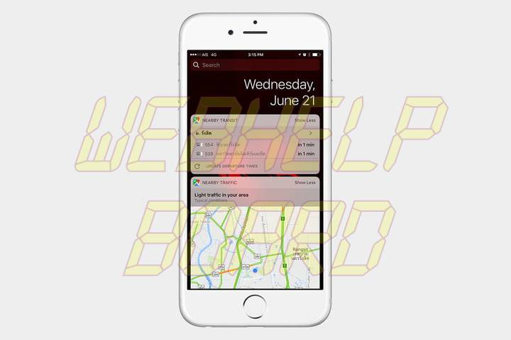 best ios 10 widgets google maps