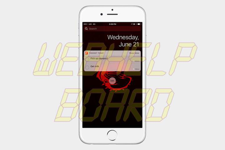 best ios 10 widgets todoist