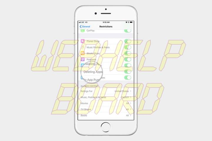 cómo borrar aplicaciones en un iPhone 4