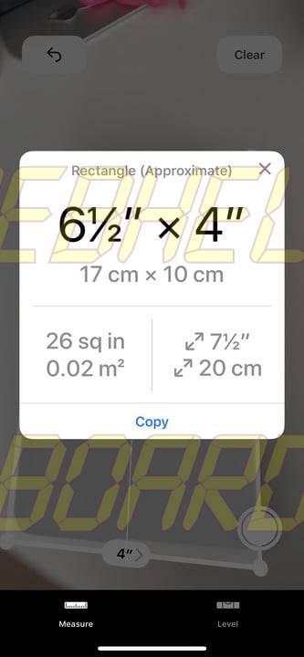 cómo usar la medida app en ios 12 medición 9