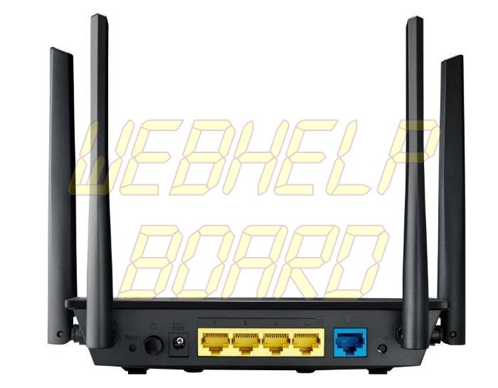 ASUS RT-ACRH13 Dual-Band 2x2 AC1300 Wifi 4-port Gigabit Router - Back