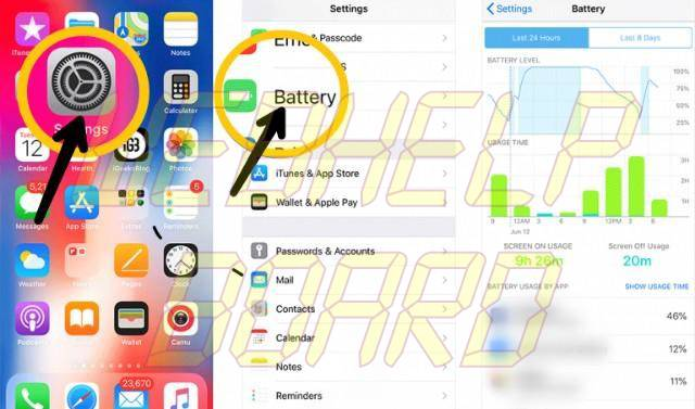 ios 11 check battery stats ios 12