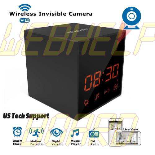 LIZVIE HD Wireless Spy Clock Camera