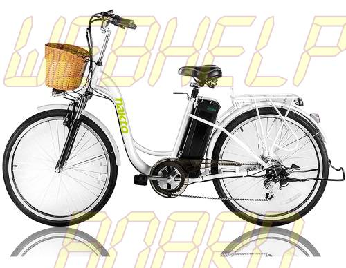 "NAKTO 26"" 250W Cargo Electric Bicycle Sporting Shimano 6 Speed Gear EBike"