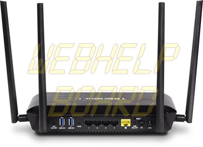 TRENDnet AC2600 MU-MIMO Wireless Gigabit Router - Back
