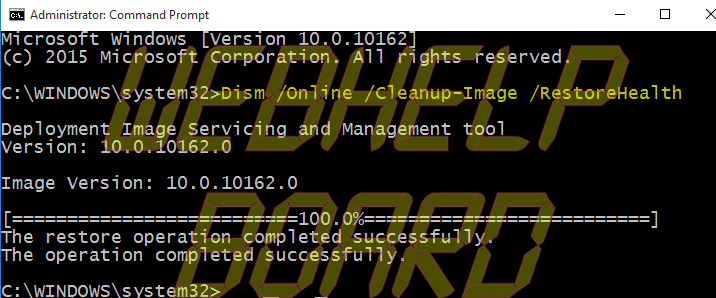 Comando Windows -Dism-Cleanup-image-Restorehealth