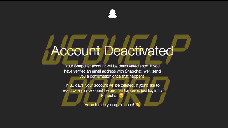 cuenta snapchat desactivada sc Snapchat