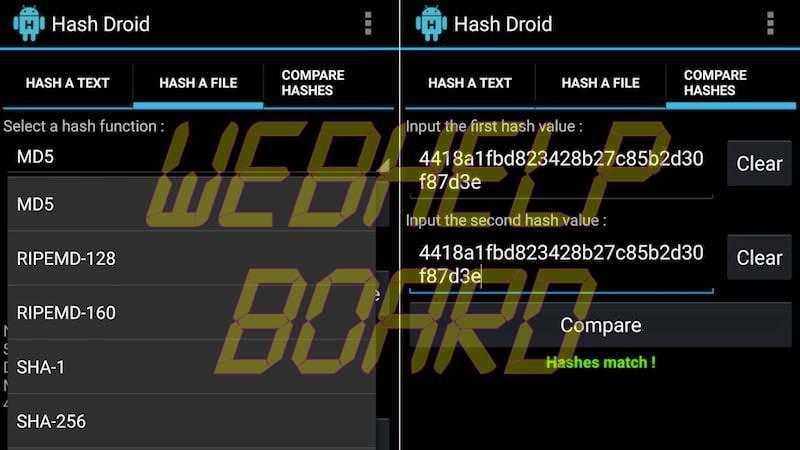 hash droid match apk_scan