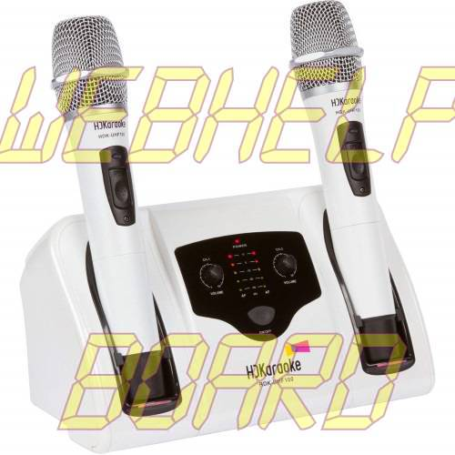 HDKaraoke HDK-UHF 100 Professional UHF Dual-Channel Rechargeable Wireless Microphone System