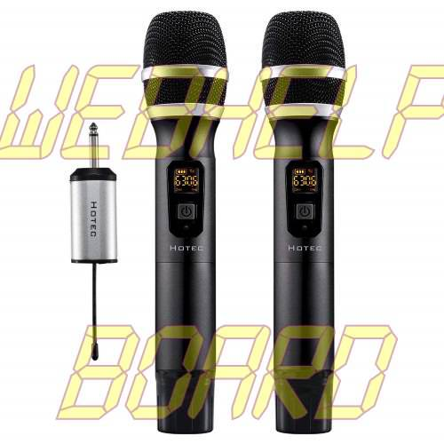 Hotec 25 Channel UHF Wireless Microphone Dual Microphone