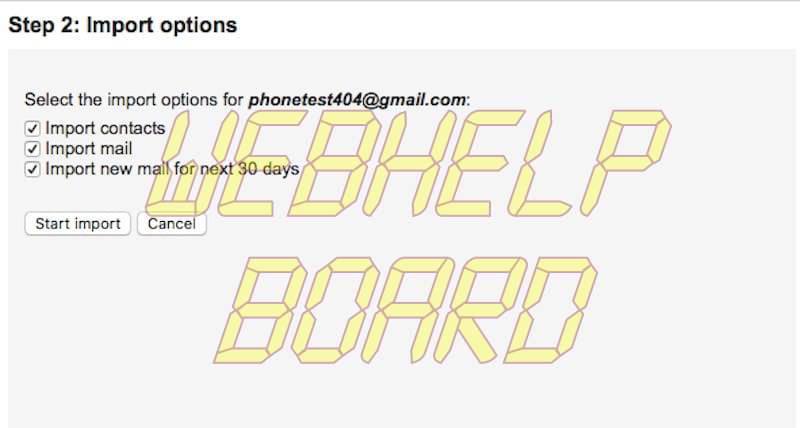 importar completamente gmail