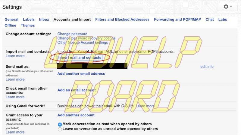 importar correos antiguos gmail