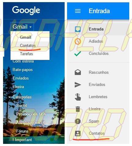 inbox e gmail contatos google smt julian - Tutorial: como importar e exportar contatos do Gmail e Outlook