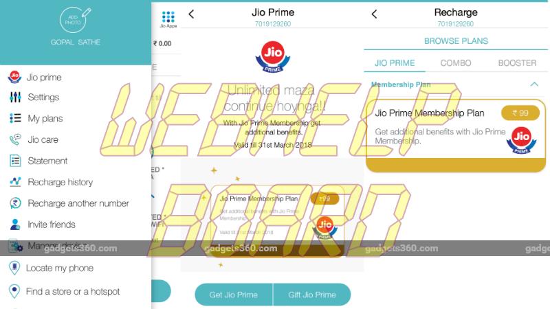 Jio Prime Cómo recargar 4 final 013717 123730 8580 Reliance Jio Prime Cómo recargar Subscribe