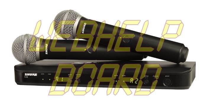 Shure BLX288-PG58 Combo vocal inalámbrico con micrófonos de mano PG58