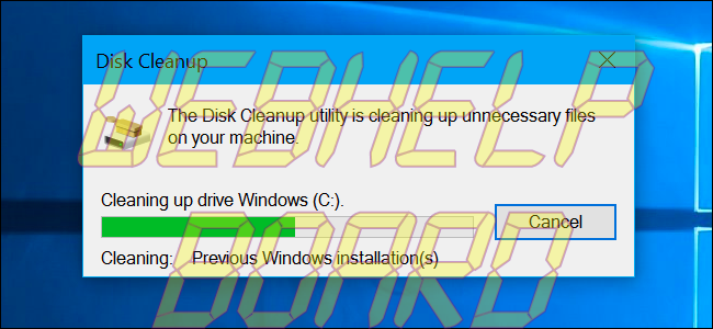 Windows Vista - Progreso del Liberador de espacio en disco