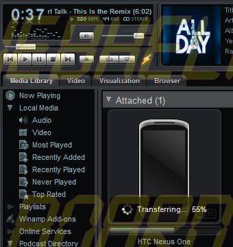 nexus one sync - Tutorial: sincronize as músicas do seu computador com seu celular via rede Wi-Fi com o Winamp