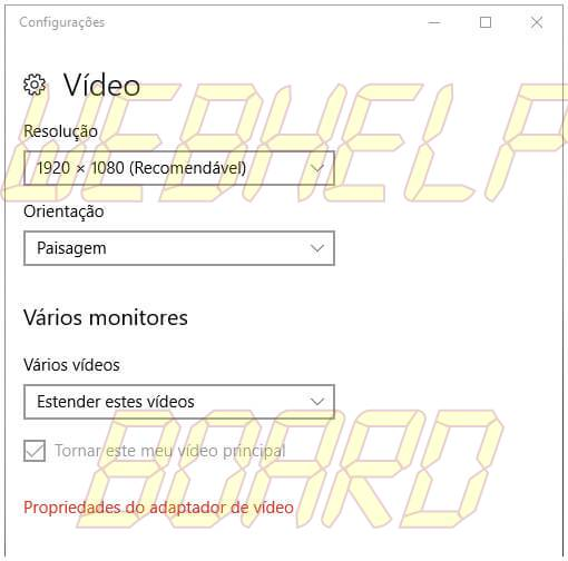 windows10 usar multiplos monitores acesso configuracao video - Como usar vários monitores juntos no Windows 10