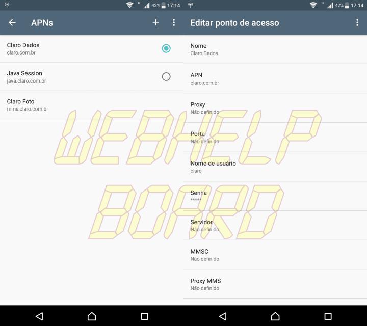 Screenshot 20170723 171433 720x640 - Tutorial: configurar a internet 3G, 4G, 4GMax da Claro (APN)