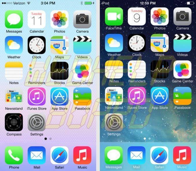 ios 7 diff02 - iOS 7 beta 5 já está disponível para desenvolvedores