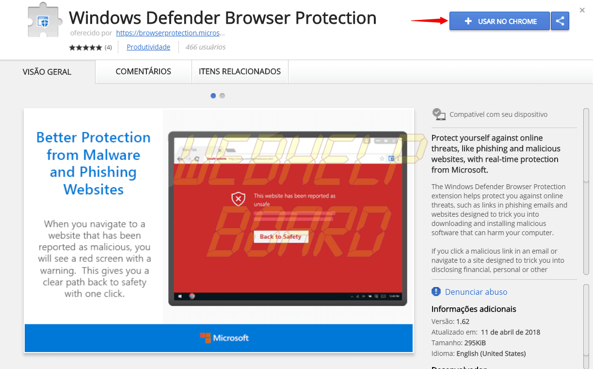 1 1 e1524166429230 - Tutorial: proteja-se de malwares com a extensão do Windows Defender para Google Chrome