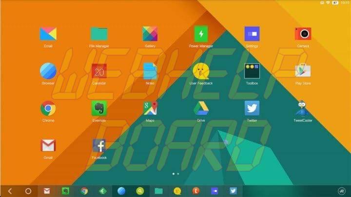 14 jide remix tablet home screen 720x404 - RemixOS: um Android para você rodar no seu PC
