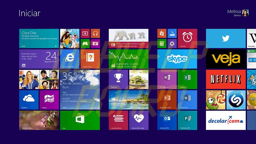 Win8.1 5ROW StartScreen GA BR - Deixe o visual do Windows 8.1 mais próximo ao do Windows 7
