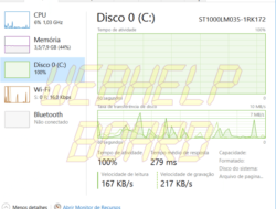 Tutorial: 100% disco en Windows 10? Vea cómo resolver