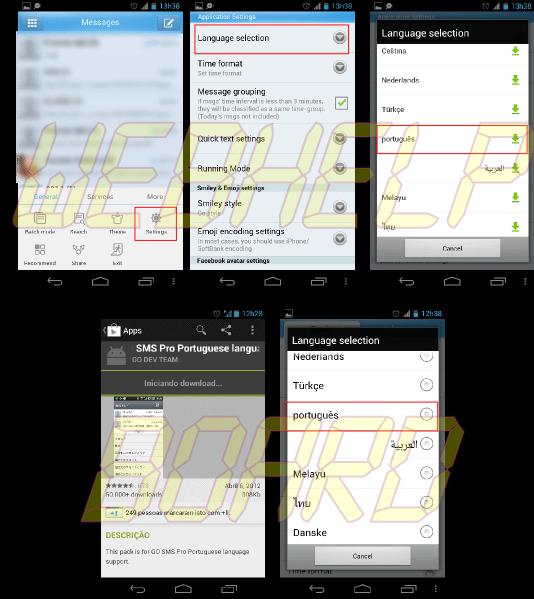 mudar linguagem1 - Saiba como mudar a aparência do seu Android – Parte 2 – Mensagens, Contatos e Telefone