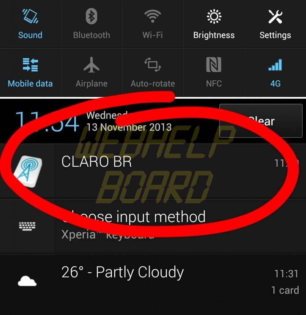 2013 11 13 11.54.472 - Tutorial: como remover notificação constante da operadora