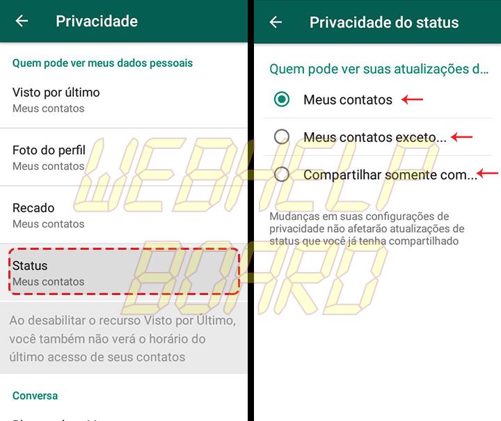 Showmetech tutorial whatsapp configuracoes de privacidade acessando itens de privacidade e seguranca 06 1 720x605 - Tutorial: como manter a privacidade no WhatsApp, sem perder a graça.