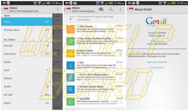 Gmail version 4.5 update 640x376 - Novo aplicativo do Gmail chega ao Android (versão 4.5)
