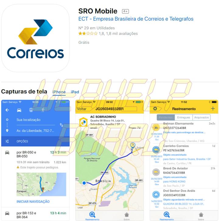 screenshot itunes.apple .com 2019.01.21 16 34 41 720x728 - Correios: como rastrear pacotes e encomendas