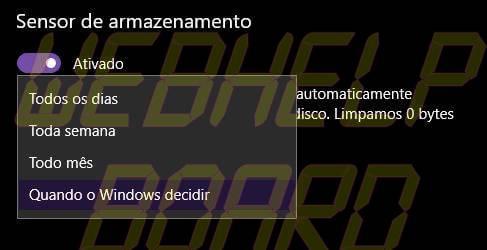 ALTERAR SENSOR - Faça o Windows 10 apagar