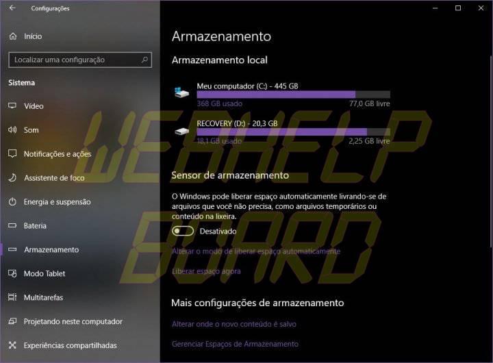 ARMAZENAMENTO 720x530 - Faça o Windows 10 apagar