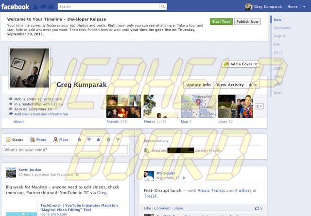 facebook timeline - Facebook: como ligar o novo