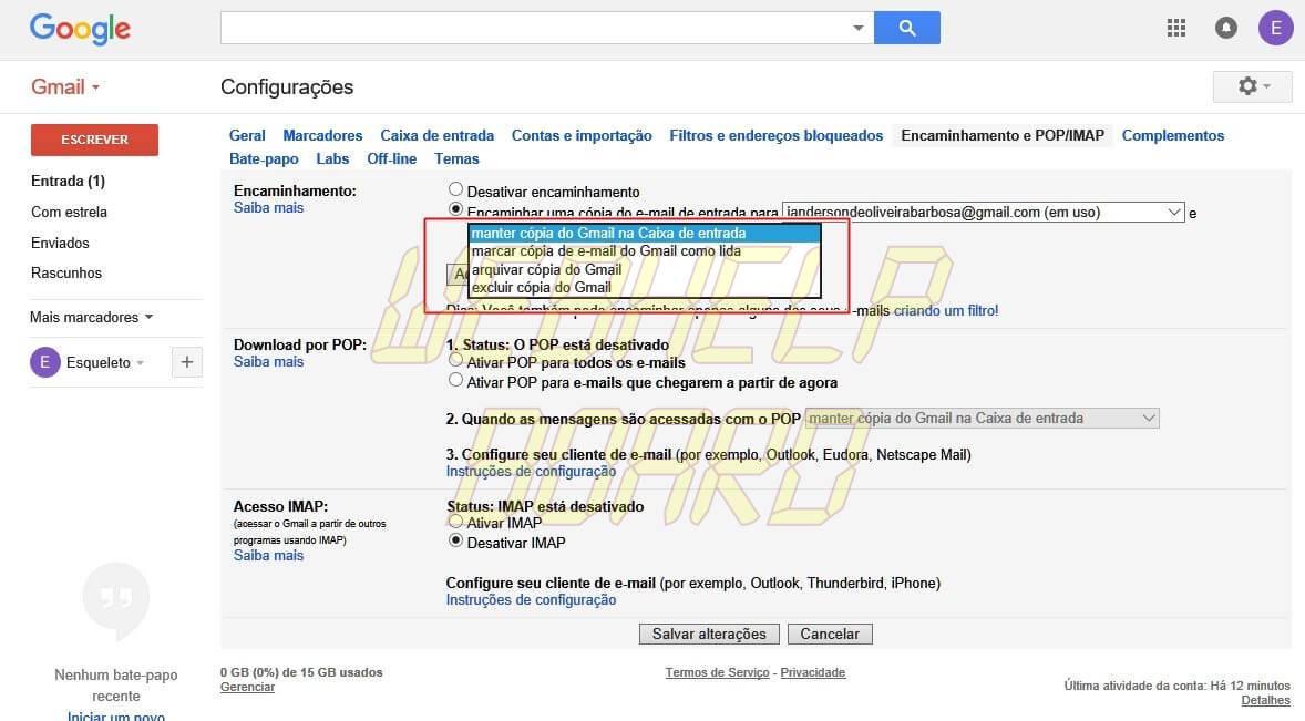 gmail tutorial 06 - Como combinar duas ou mais contas do Gmail