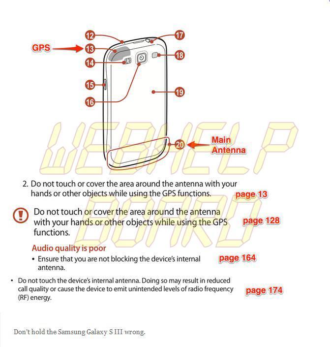 Antenna issue Samsung Galaxy SIII - Site indica quais smartphones possuem problemas com antenas
