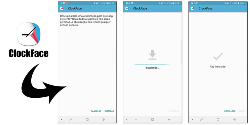 clockface passos de instalação - Tutorial: use Clock Face para alterar o estilo do relógio do Samsung Galaxy