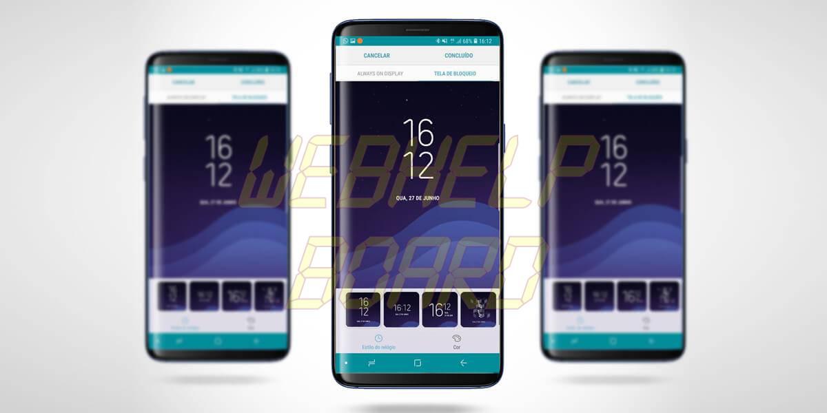 clockface s9 samsung galaxy - Tutorial: use Clock Face para alterar o estilo do relógio do Samsung Galaxy