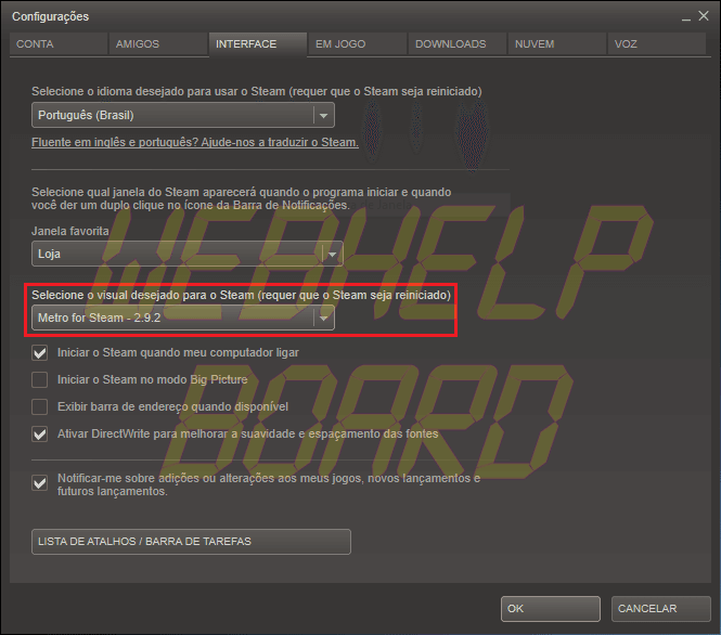 CapturarSP - Tutorial: Metro For Steam - a interface do Windows 8 no seu Steam