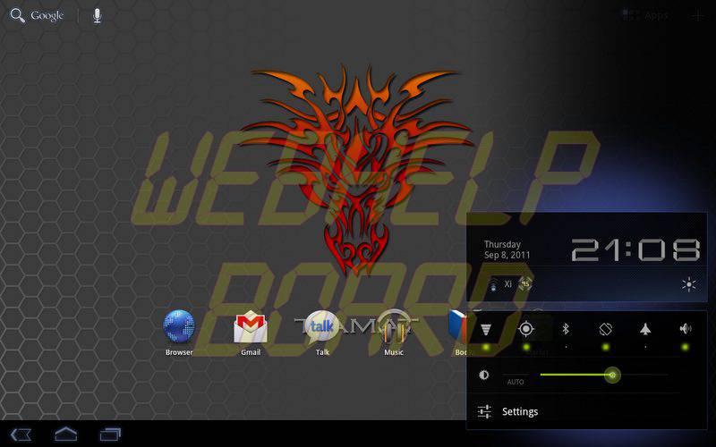 device 2011 09 08 2108441 - Motorola XOOM: nova atualização da ROM Tiamat 2.2.1 (Android Honeycomb 3.2.2)